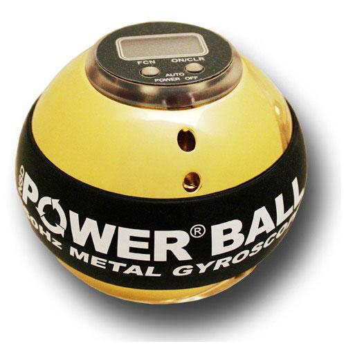 Powerball 350Hz Metal Hi-Speed. Кистевой тренажер, со счетчиком350hz metalPowerball 350Hz HI-SPEED Metal - cтальной Powerball с легким алюминиевым ротором, позволяющим достичь абсолютно новых скоростей. Компьютерная калибровка и переход на сверхточные станки для производства этой модели Powerball позволили достигнуть абсолютно невозможных характеристик - скорость вращения этого шара может достигать 20000 оборотов в минуту - чемпион мира пока что не смог достигнуть скорости вращения более 12000 оборотов в минуту с этой моделью. Металлическая сфера отполирована до зеркального блеска, с черным резиновым кольцом. Установлен счетчик - это уже не офисная игрушка, а инструмент для установки новых и новых рекордов. Одной из важных отличительных особенностей модели является простота обслуживания - для чистки шара достаточно снять резиновую прокладку и отвинтить одну половину сферы от другой. В комплекте тренажера шнурок для запуска, инструкция, ремешок на руку и ремонтный комплект. Сферы-держателя нет
