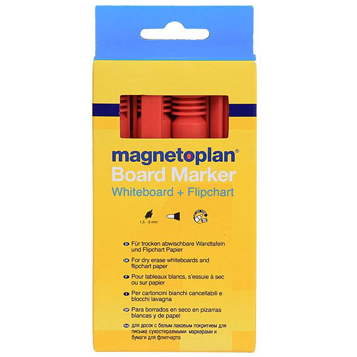 Маркеры Magnetoplan, цвет: красный12 281 06Инновационные маркеры Magnetoplan предназначены для письма на маркерной поверхности и бумаге для флипчарта. Овальный пишущий узел. Толщина линии 1,5-3 мм. В комплект входят 4 маркера красного цвета. Характеристики: Длина маркера: 13,5 см. Количество: 4 шт. Размер упаковки: 16 см х 7,5 см х 2 см. Изготовитель: Китай. Артикул: 12 281 06. Magnetoplan является самым первым производителем досок планирования и презентационного оборудования и с 1956 г. сохраняет лидерство в списке старейших компаний, предлагающих средства визуальной коммуникации, что свидетельствует о безусловном качестве продукции.