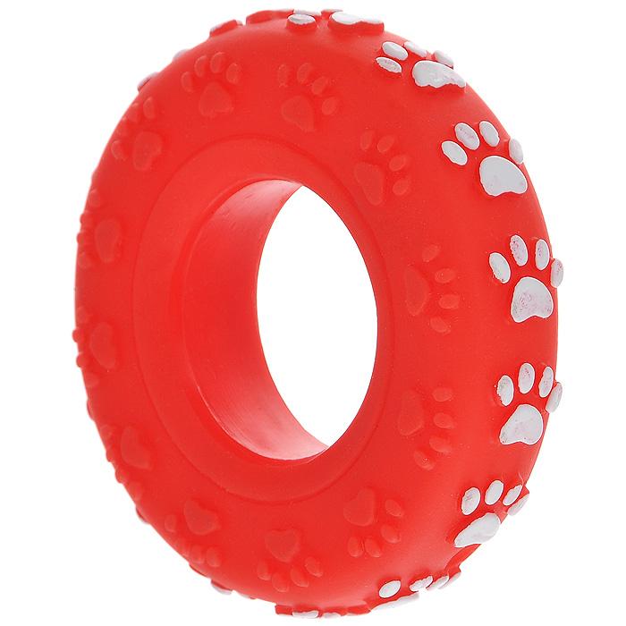 Игрушка для собак Ziver Покрышка, с пищалкой, цвет: красный, диаметр 8 см40.ZV.054Игрушка для собак Ziver Покрышка изготовлена из винила и латекса с использованием только безопасных, не токсичных красителей. Покрышка при надавливании или захвате пастью пищит. Привлечет внимание вашего любимца, позволит весело провести ему время, не навредит здоровью, а также поможет вам сохранить в целости личные вещи и предметы интерьера. Диаметр: 8 см.