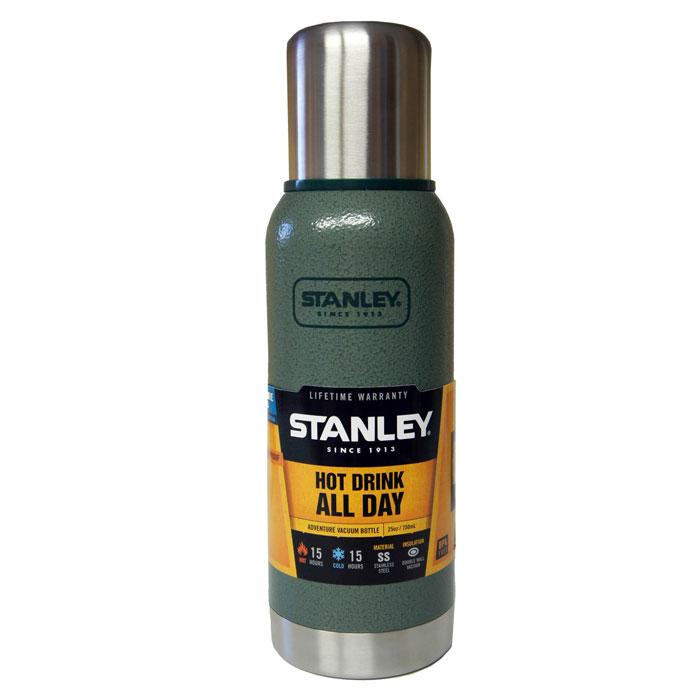 Термос Stanley Adventure, цвет: темно-зеленый, 1 л10-01570-005Герметичный термос Stanley Adventure выполнен из высококачественной нержавеющей стали. Вакуумная изоляция позволит дольше сохранить температуру вашего напитка. Крышка выполнена в виде термостакана объемом 236 мл. Слив - через поворотную пробку. Стильный функциональный термос будет незаменим в дороге, на пикнике. Его можно взять с собой куда угодно, и вы всегда сможете наслаждаться горячим домашним напитком.