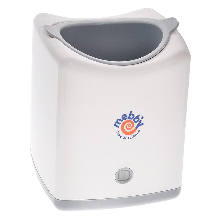 Подогреватель для бутылочек Mebby с адаптером для использования в автомобиле92351Подогреватель для бутылочек Mebby, работающий от электрической сети или прикуривателя автомобиля, подходит для всех типов бутылочек, благодаря специальному редукционному кольцу. Быстрый, подогревает за 5-7 минут в зависимости от количества и температуры подогреваемого продукта; подогрев производится паром от кипения воды. Оснащен звуковым и световым индикатором для обозначения завершения цикла подогрева, после чего подогреватель автоматически выключается. Мензурка, входящая в комплект, позволяет точно отмерить необходимое количество воды для подогрева, а специальные корзинки позволяют легко установить и изъять бутылочку или детское питание из нагревательной камеры. Подогреватель Mebby изготовлен из пластика, в котором отсутствует Бисфенол-А. В комплекте с подогревателем два адаптера: для электрической сети и автомобильного прикуривателя, с помощью которого вы сможете подогреть пищу для малыша, даже находясь в пути, и инструкция на русском языке.