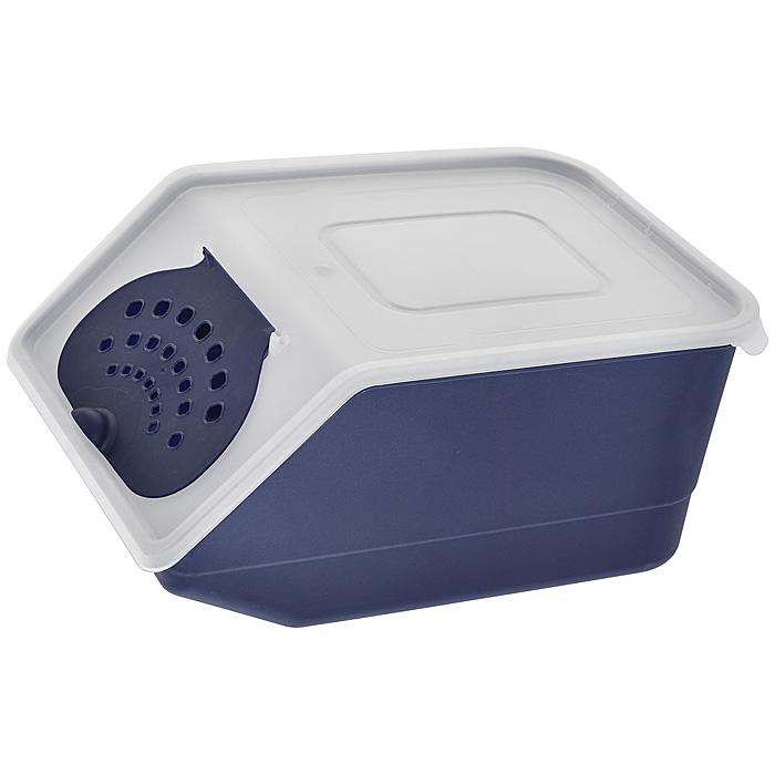 Контейнер для овощей Полимербыт, цвет: прозрачный, синий, 7,6 л820Пластиковый контейнер для овощей Полимербыт выполнен из пищевого пластика и изготовлен таким образом, что позволяет овощам и фруктам дышать, обеспечивая их длительную свежесть. Изделие легкое и компактное, в то же время вместительное, прекрасно впишется в пространство вашей кухни. Объем: 7,6 л.