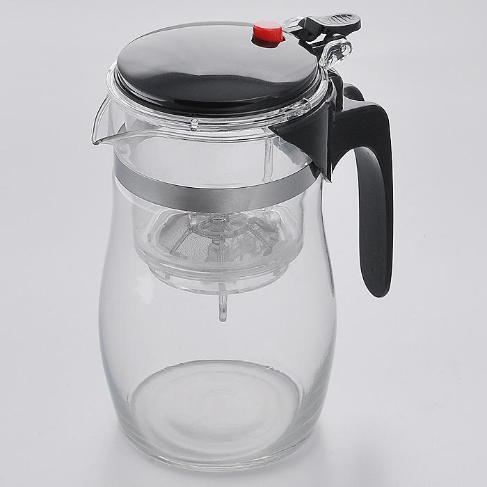 Чайник заварочный Mayer & Boch, цвет: черный, 0,75 лMB4023Заварочный чайник Mayer & Boch, выполненный из высококачественного стекла, практичный и простой в использовании. Съемный фильтр чайника оснащен водозапорным пластиковым клапаном, а в крышке имеется кнопка клапана. Пока кнопку клапана не нажимаете, чай не вытекает из фильтра, тем самым вы регулируете крепость напитка, его вкус и аромат. Современный дизайн полностью соответствует последним модным тенденциям в создании предметов бытовой техники. Характеристики: Материал: стекло, сталь, пластик. Объем чайника: 0,75 л. Диаметр чайника: 9 см. Высота чайника: 16 см. Размер упаковки: 12 см х 10 см х 17 см. Производитель: Германия. Изготовитель: Китай. Артикул: MB4023.
