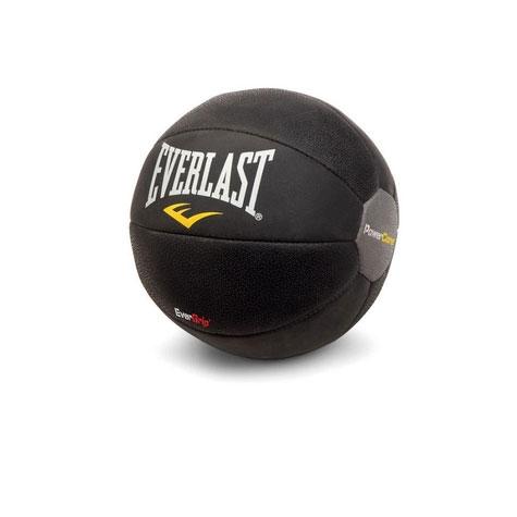 Медицинбол Everlast Powercore, цвет: черный, 4 кг6512Медицинбол Everlast Powercore - тренировочный мяч, который прекрасно подходит для занятий фитнесом, аэробикой или ЛФК (лечебной физкультурой). Шероховатая поверхность не дает ему выскользнуть из рук, а утяжеленная песком сердцевина позволяет с легкостью сохранить баланс или элемент вращения. Характеристики: Материал: синтетическая кожа. Диаметр: 24 см. Вес: 4 кг. Артикул: 6512. Размер упаковки: 27 см х 26 см х 27 см.