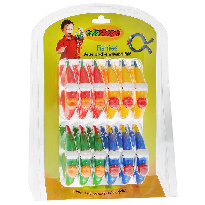 Игровой набор Рыбки, 12 элементов996412Игровой набор Рыбки включает в себя 12 ярких пластиковых элементов четырех цветов: красного, желтого, зеленого и синего (по три каждого цвета). Каждый элемент представляет собой незамкнутое колечко в виде рыбки. Малыш сможет играть ими отдельно или собрать необычную цепочку. Игровой набор Рыбки позволит ребенку развить цветовое восприятие, мелкую моторику рук, логическое мышление и воображение.