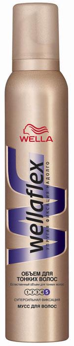 Wellaflex Мусс для укладки волос Объем для тонких волос, супер-сильная фиксация, 200 млWF-81144978Благодаря формуле Объемной укладки мусс обволакивает каждый волос, заполняя истонченные участки. Надежная упругая фиксация до 24 часов. Не склеивает волосы, не сушит их, помогает защитить от УФ-лучей. Характеристики: Объем: 200 мл. Артикул: WF-81144978. Производитель: Германия. Товар сертифицирован.