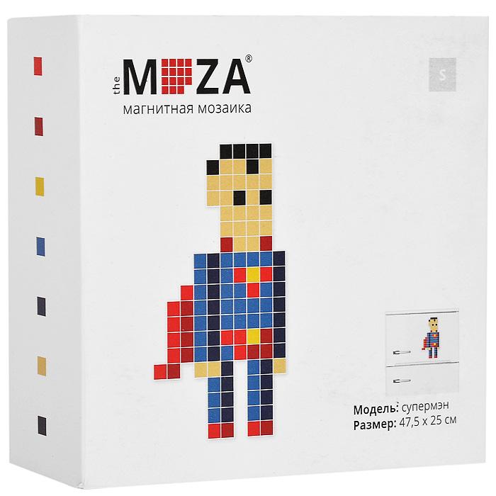 Магнитная мозаика Moza Супермен, 113 элементовМагнитная мозаика MOZA СуперменМагнитная мозаика Moza Супермен состоит из 113 разноцветных квадратных магнитов. Собрать мозаику довольно просто: в комплекте прилагается инструкция со схемой. Собрать изображение можно на любой магнитной поверхности, например, на холодильнике. Кроме того, из предложенных в наборе деталей можно собрать не только супермена, но и другие фигурки, например, машинку или очки. Главное - фантазия. Такая мозаика понравится как взрослым, так и детям. Порадуйте своих близких оригинальным и красочным изображением на холодильнике.