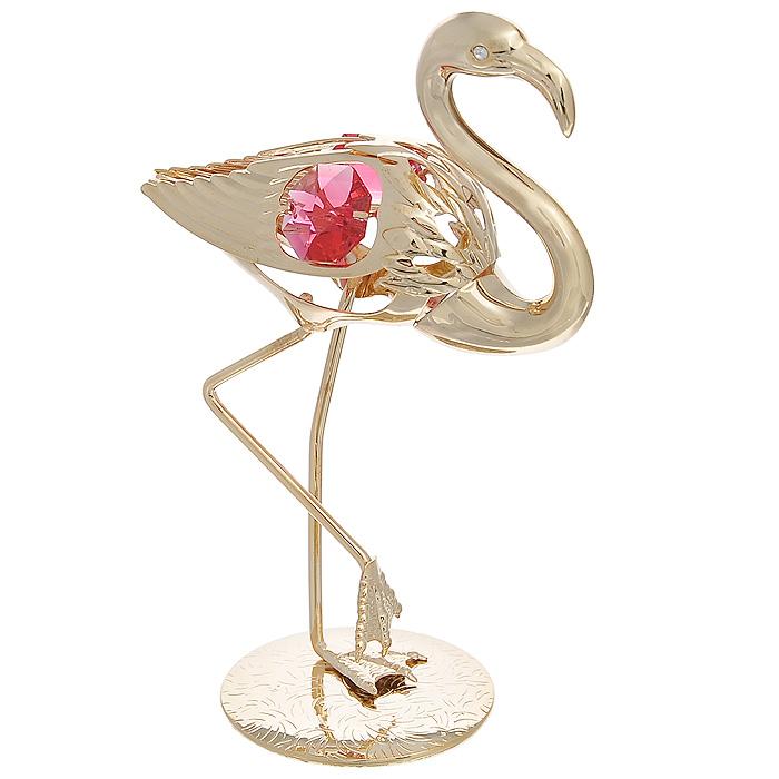 Фигурка декоративная Фламинго, цвет: золотистый. 692722692722Декоративная фигурка Фламинго, золотистого цвета, станет необычным аксессуаром для вашего интерьера и создаст незабываемую атмосферу. Фигурка в виде грациозного фламинго инкрустирована красными кристаллами. Кристаллы, украшающие фигурку, носят громкое имя Swarovski. Ограненные, как бриллианты, кристаллы блистают сотнями тысяч различных оттенков. Эта очаровательная фигурка послужит отличным функциональным подарком, а также подарит приятные мгновения и окунет вас в лучшие воспоминания. Фигурка упакована в подарочную коробку. Характеристики: Материал: металл, австрийские кристаллы. Размер фигурки: 7 см х 10,5 см х 4 см. Цвет: золотистый. Размер упаковки: 6,5 см х 11 см х 6,5 см. Артикул: 692722.