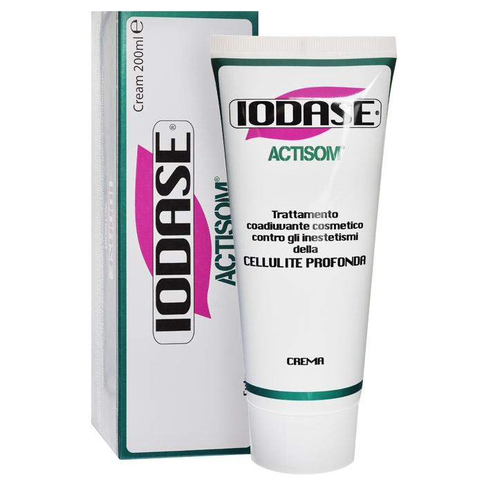 Iodase Крем для тела Actisom, антицеллюлитный, 200 млА904254885Крем на натуральной основе против целлюлита повышенной стадии способствует уменьшению жировых отложений и препятствует образованию новых (липолитическое действие), обладает отличным дренажным свойством, придает коже эластичность и упругость. Благодаря присутствию в составе запантентованных проводников в глубокие слои кожи (везикулярных сфер-переносчиков) основные вещества крема гарантированно достигают гиподермы, где формируются жировые отложения (уникальная формула Actisom). Крем позволяет добиваться сильнейшего воздействия на проблемную зону, выравнивая кожу бедер, ног и ягодиц через 8 недель применения на 50%. Крем улучшает микроциркуляцию в тканях, укрепляет и увлажняет кожу. Все это вместе сокращает внутренние и внешние (видимые) признаки целлюлита. Крем для тела был разработан в лабораториях итальянской компании Iodase. Этот крем является эффективным средством борьбы против повышенной стадии целлюлита, значительно уменьшает жировую массу. Крем создан с...