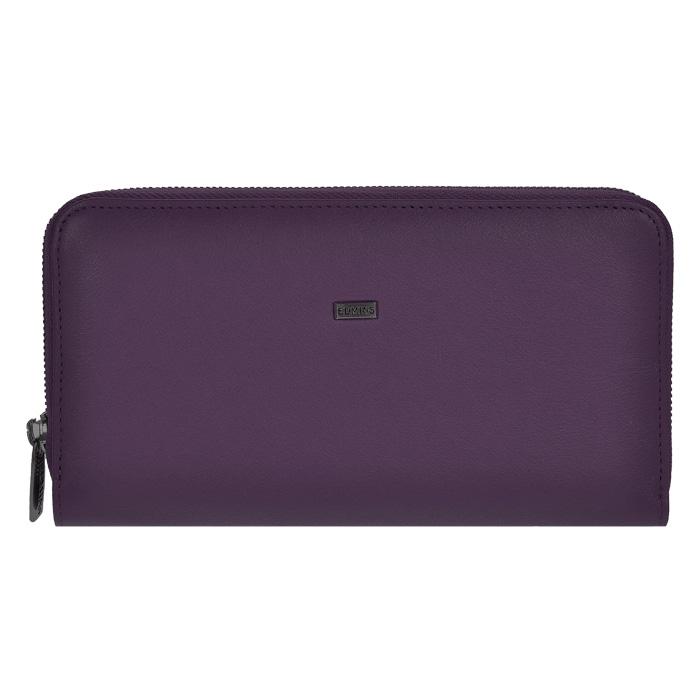 Портмоне женское Edmins, цвет: фиолетовый. 2991Z-PL-ML-ED/1N violet2991Z-PL-ML-ED/1N violetСтильное женское портмоне Edmins выполнено из натуральной кожи фиолетового цвета и вмещает в себя купюры в полную длину. Закрывается на застежку-молнию. Внутри имеется три отделения для купюр, разделенных между собой двумя длинными кармашками на молнии, два потайных отделения для мелких бумаг и 8 кармашков для визиток и пластиковых карт. С задней стороны портмоне расположено отделение на молнии для мелочи. Портмоне Edmins в классическом стиле - это не только функциональная и нужная вещь, но и стильный аксессуар, который покорит вас простотой и изяществом.