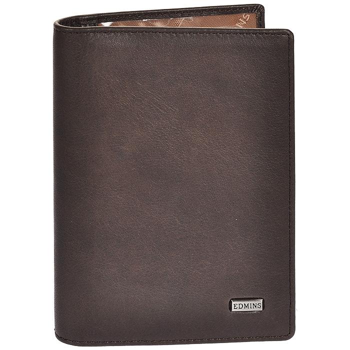 "Портмоне мужское ""Edmins"", цвет: серо-коричневый. 1422 ML/1N ED fumo ( 1422 ML/1N ED fumo )"