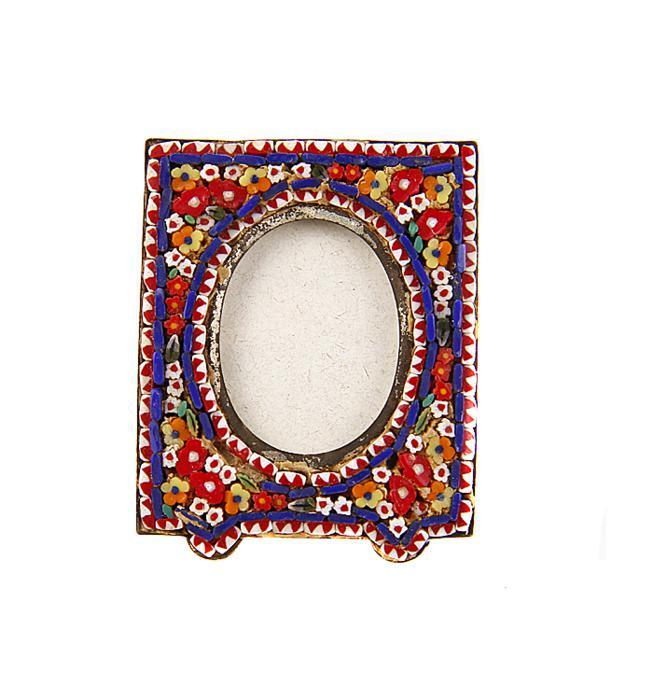 Миниатюрная фоторамка. Римская мозаика, металл. Италия, середина XX века