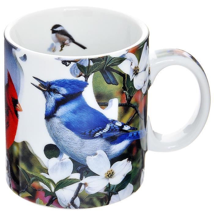 Кружка Backyard Birds, 425 мл14171Кружка Backyard Birds изготовлена из высококачественного фарфора белого цвета. Она оформлена репродукцией картины Backyard Birds американского художника Рассела Кобейна. Такая кружка будет прекрасным подарком для почитателей творчества этого художника и просто ценителей всего прекрасного.