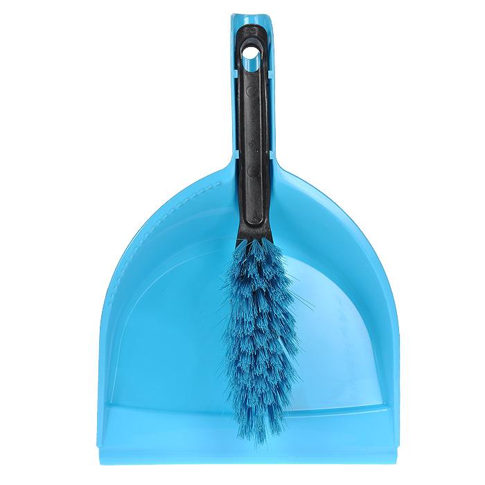 Набор для уборки Centi: совок и щетка, цвет: голубой6203