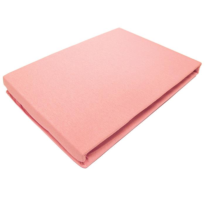 Простыня трикотажная ЭГО на резинке, цвет: розовый, 200 x 200 смЭ-ПР-04-22Трикотажная простыня ЭГО на резинке выполнена из 100% хлопка высокого качества. Натуральный, экологически чистый материал обеспечивает высокую гигиеничность простыни. Она гигроскопична и воздухопроницаема, а также приятна на ощупь. Трикотаж имеет достаточно рыхлую структуру, образованную переплетением петель, что обеспечивает его растяжимость и эластичность. Простыня ЭГО очень мягкая и не мнется, не теряет форму после стирки и не линяет. Трикотаж достаточно эластичен, поэтому изделия из него можно даже не гладить. Простыня прошита резинкой по всему периметру, что обеспечивает более комфортный отдых, так как она прочно удерживается на матрасе и избавляет от необходимости часто поправлять простыню. Выбрав простыню нужной вам расцветки, вы можете легко комбинировать ее с различным постельным бельем.