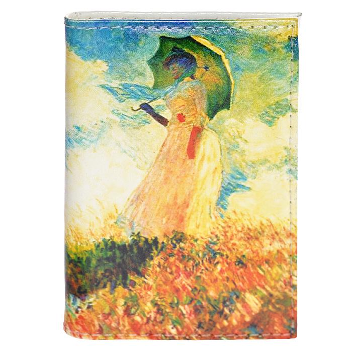 Визитница Клод Моне - Дама с зонтиком. VIZIT-025VIZIT25Визитница изготовлена из натуральной кожи и оформлена изображением картины Клода Моне Дама с зонтиком. Внутри находится съемный блок односторонних кармашков, рассчитанных на хранение 18 визиток или кредитных карт. Визитница станет отличным подарком человеку, ценящему практичные и стильные вещи, а качество его исполнения представит такой подарок в самом выгодном свете.