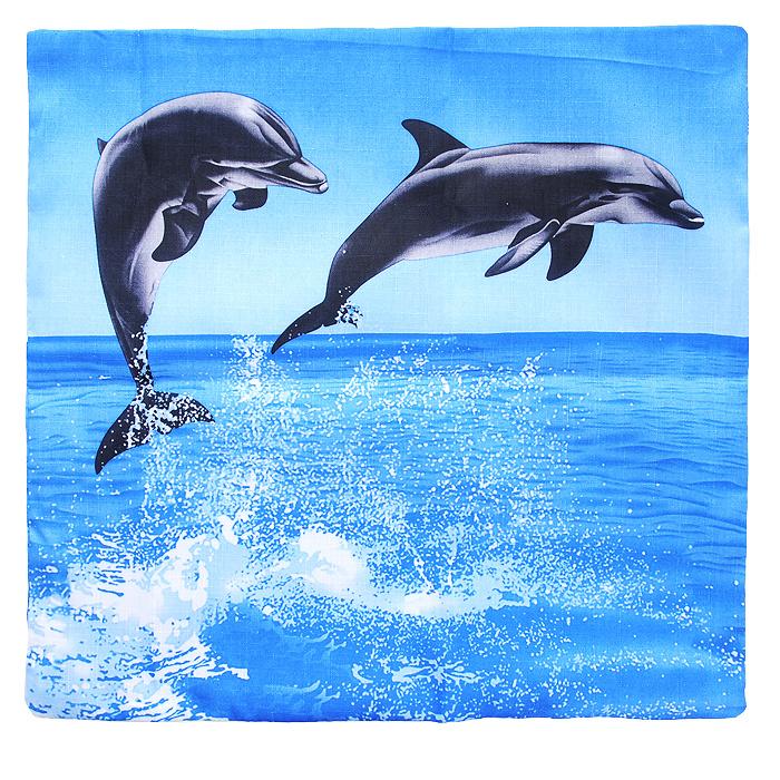 Наволочка декоративная Дельфины, 40 см х 40 смНДДДекоративная наволочка Дельфины, выполненная из полиэстера, гармонично впишется в интерьер вашего дома и создаст атмосферу уюта и комфорта. Наволочка оформлена изображением дельфинов. Наволочка застегивается на застежку-молнию.