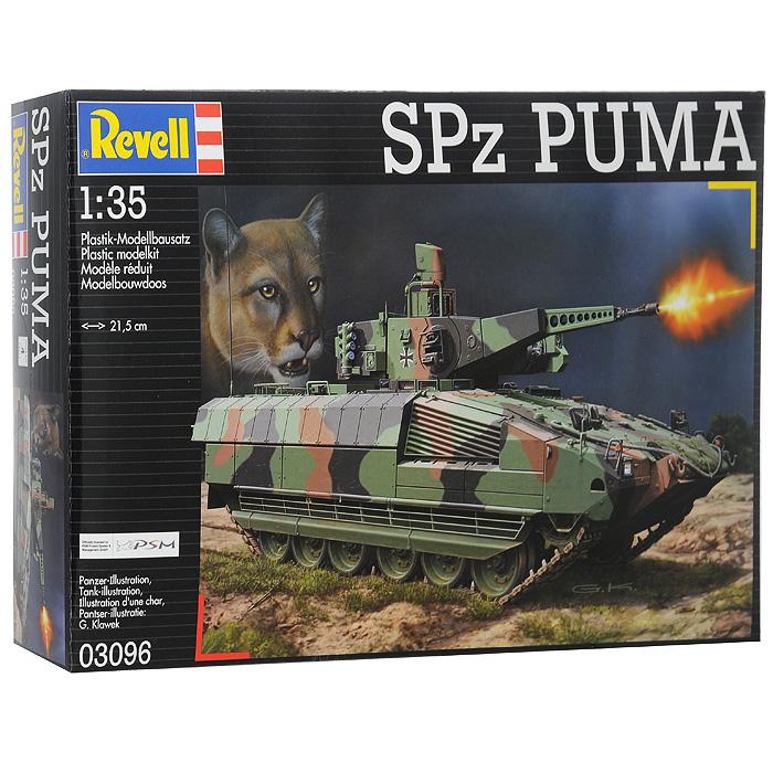 Сборная модель Боевая машина пехоты SPz Puma03096RСборная модель Боевая машина пехоты SPz Puma позволит вам и вашему ребенку собрать уменьшенную копию немецкой БМП. Комплект включает в себя 177 пластиковых элементов для сборки модели и схематичную инструкцию. Процесс сборки развивает интеллектуальные способности, воображение и конструктивное мышление, а также прививает практические навыки работы со схемами и чертежами.