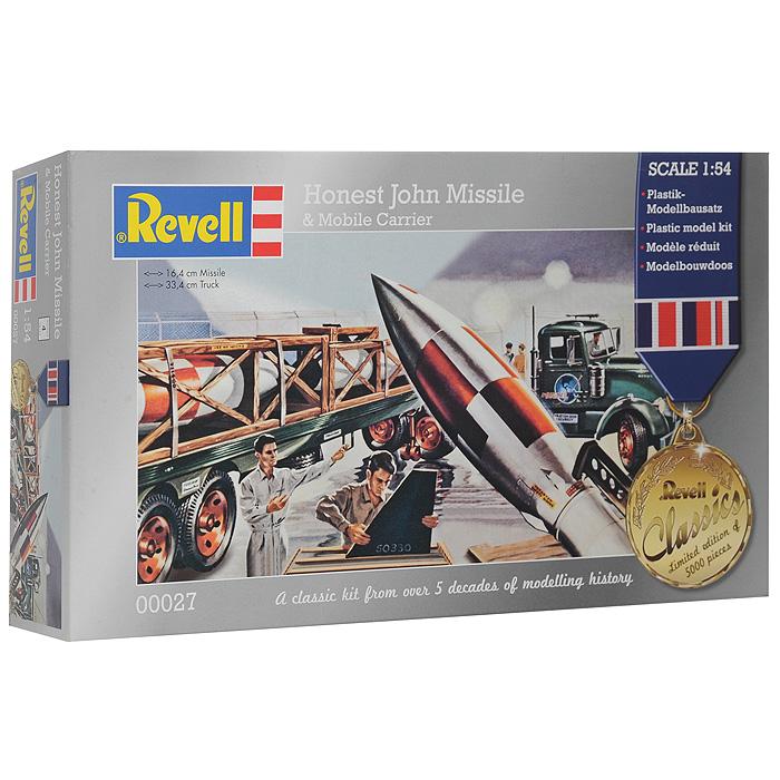 Сборная модель Ракета Honest John с ракетовозом00027RСборная модель Ракета Honest John с ракетовозом позволит вам и вашему ребенку собрать уменьшенную копию ракетной системы с тягачом и платформой. Комплект включает в себя 110 пластиковых элементов для сборки моделей и схематичную инструкцию. Процесс сборки развивает интеллектуальные способности, воображение и конструктивное мышление, а также прививает практические навыки работы со схемами и чертежами.