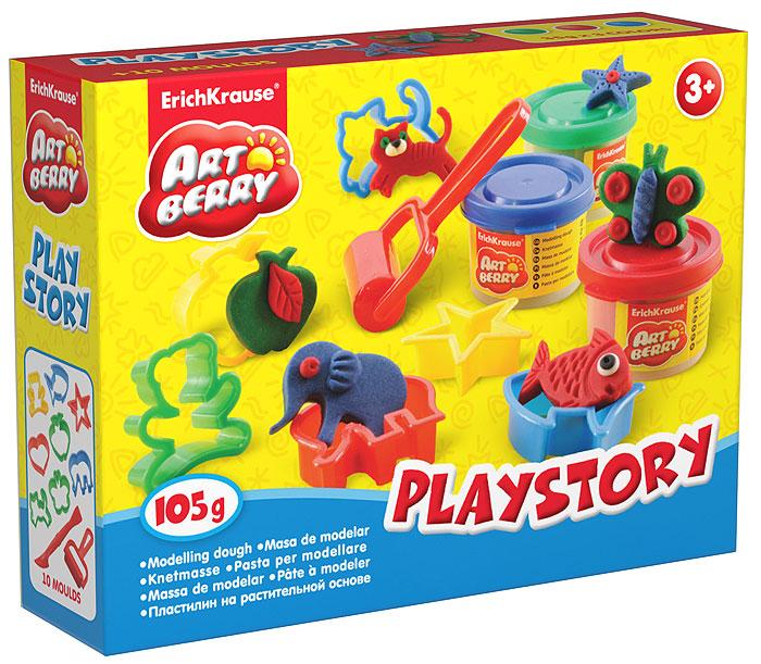 Набор для лепки Playstory, 13 предметов30370Набор для лепки Playstory поможет развить у ребенка мелкую моторику рук, воображение и творческое мышление. Пластилин легко разминается, не липнет к рукам и рабочей поверхности, не пачкает одежду. Цвета смешиваются между собой, образуя новые оттенки. Пластилин застывает на открытом воздухе через 24 часа. Набор содержит пластилин цветов зеленого, красного и синего, восемь фигурных формочек, ролик и стек. Пластилин каждого цвета хранится в отдельной пластиковой баночке. Набор для лепки Playstory, ваш ребенок будет часами занят игрой.