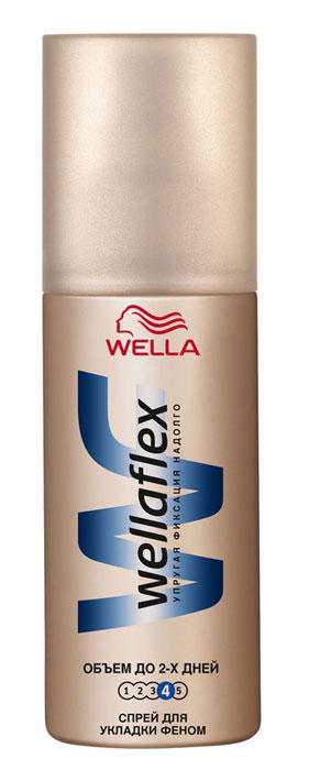 Wellaflex Спрей для укладки феном Объем до 2-х дней, экстрасильная фиксация, 150 млWF-81088883Спрей для укладки феном Wellaflex Объем до 2-х дней обеспечит вашей прическе упругую фиксацию и объем. Не склеивает волосы.