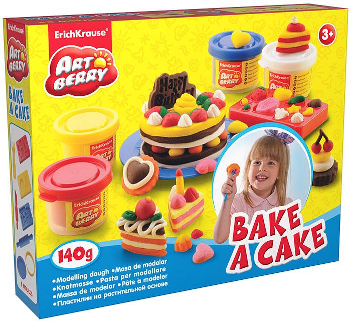 Набор для лепки (на растительной основе) Bake a Cake, 4 цвета30379Пластилин на растительной основе Bake a Cake - увлекательная игрушка, развивающая у ребенка мелкую моторику рук, воображение и творческое мышление. Пластилин легко разминается, не липнет к рукам и рабочей поверхности, не пачкает одежду. Цвета смешиваются между собой, образуя новые оттенки. Пластилин застывает на открытом воздухе через 24 часа. Набор содержит пластилин 4 цветов (красного, синего, желтого, белого), 3 формы-трафарета, круглую объемную форму, тарелочку, валик с ручками, 2 стека. Пластилин каждого цвета хранится в отдельной пластиковой баночке. С пластилином на растительной основе Bake a Cake ваш ребенок будет часами занят игрой.