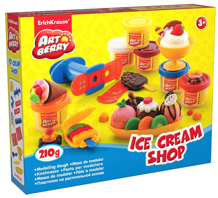 Набор для лепки (на растительной основе) Ice Cream Shop, 6 цветов30381Пластилин на растительной основе Ice Cream Shop - увлекательная игрушка, развивающая у ребенка мелкую моторику рук, воображение и творческое мышление. Пластилин легко разминается, не липнет к рукам и рабочей поверхности, не пачкает одежду. Цвета смешиваются между собой, образуя новые оттенки. Пластилин застывает на открытом воздухе через 24 часа. Набор содержит пластилин 6 цветов (малинового, белого, желтого, красного, оранжевого, синего), 2 объемных формы-трафарета, 2 плоских трафарета, 2 вафельницы, чашу, овальную тарелочку, ложечку, валик, пресс, 2 небольших лопатки, стек. Пластилин каждого цвета хранится в отдельной пластиковой баночке. С пластилином на растительной основе Ice Cream Shop ваш ребенок будет часами занят игрой.