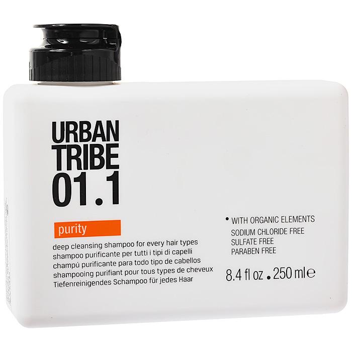 Urban Tribe Шампунь очищающий, для всех типов волос, 250 мл52098Очищающий шампунь Urban Tribe для всех типов волос освобождает волосы от остатков укладочных средств и хлора. Интенсивно, но бережно очищает, не высушивая волосы, поддерживает баланс влаги в волосах. Поверхностно-активный ингредиент растительного происхождения, экологически чистый и легко разлагаемый. Оказывает мягкое и натуральное очищающее действие на кожу и волосы, сохраняя цвет окрашенных волос. Семена Моринги, активный очищающий компонент, действует как магнит, притягивая и связывая загрязнения. Ухаживающие вещества увлажняют и делают волосы мягкими, разглаживая непослушные локоны и устраняя статическое электричество. Органические, эко-сертифицированные элементы оказывают увлажняющее, ухаживающее и антиоксидантное действие.
