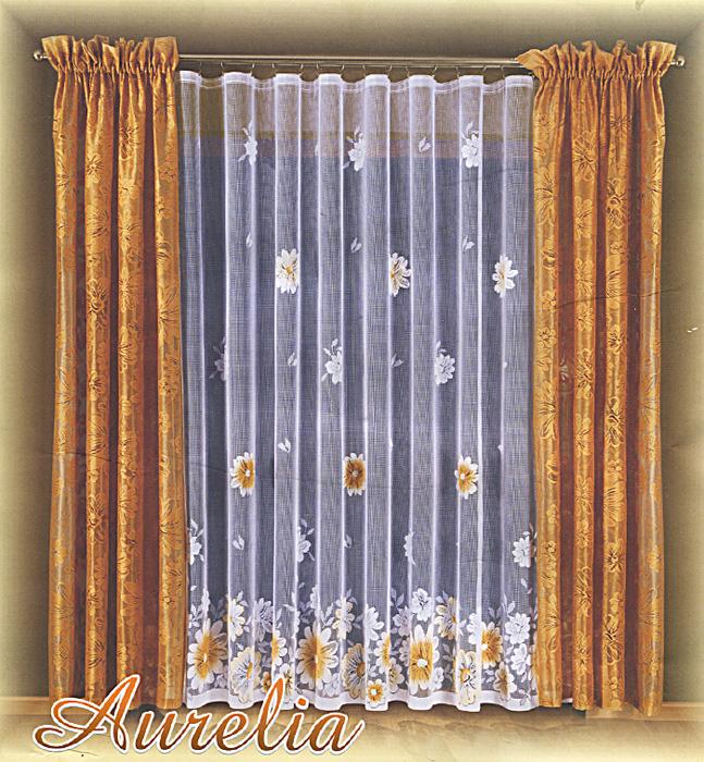 Комплект штор Aurelia, на ленте, цвет: бежевый, белый, высота 250 см690442Комплект штор Aurelia великолепно украсит любое окно. Комплект состоит из тюли и двух штор, оформленных изящными цветочными узорами. Шторы изготовлены из легкого полиэстера бежевого цвета, тюль - из полиэстера белого цвета. Тонкое плетение, оригинальный дизайн и нежная цветовая гамма привлекут к себе внимание и органично впишутся в интерьер помещения. Все предметы комплекта оснащены шторной лентой для собирания в сборки. Шторы дополнительно оснащены кулиской для крепления на круглый карниз.
