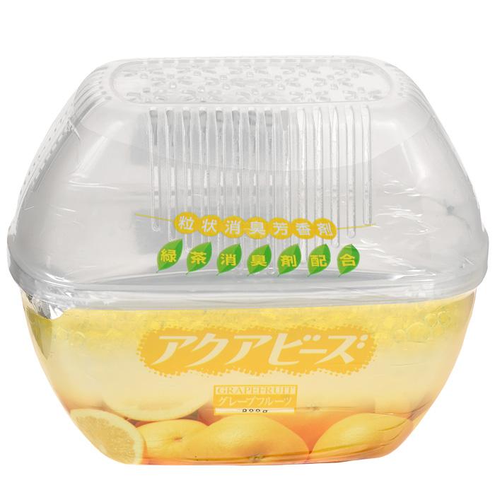Освежитель воздуха Nagara Aqua Bead, с ароматом грейпфрута, 200 г03630Освежитель воздуха Nagara Aqua Bead эффективно устраняет неприятный запах в туалете, прихожей и других помещениях. Обеспечивает свежесть и поддерживает чистоту в помещении, обладает приятным ароматом грейпфрута и безопасен в применении.