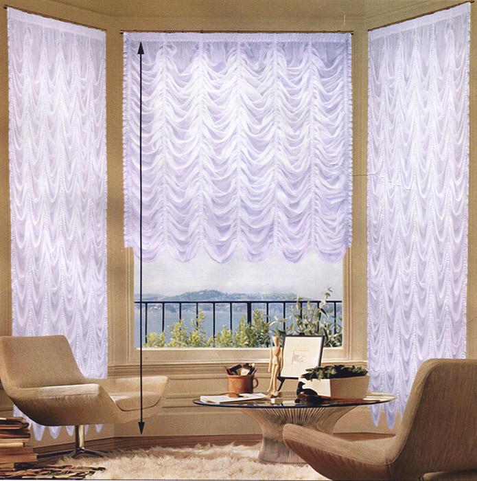 Гардина Zlata Korunka, на ленте, цвет: белый, 560 см х 550 смБ018/1Изящная и торжественная гардина Zlata Korunka изготовлена из высококачественного полиэстера белого цвета. Она является великолепным украшением для залов и гостиных. Прекрасно смотрится в комнатах и кухнях с эркерным окном. В гардину вшита универсальная шторная лента. Оригинальный дизайн гардины не оставит никого равнодушным и удовлетворит даже самый изысканный вкус.