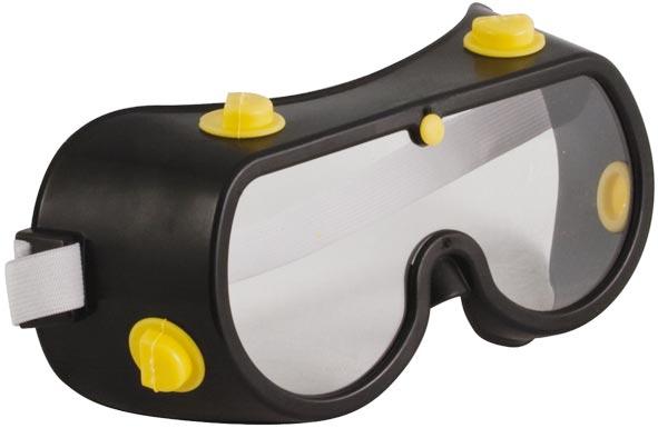Очки защитные с непрямой вентиляцией Fit, цвет корпуса: черный12225Защитные очки Fit с непрямой вентиляцией необходимы тем, кто работает в условиях сильной запыленности, или использует различные инструменты, во время работы с которыми в воздух выбрасывается большое количество строительной пыли, стружек и т.п. С поликарбонатным стеклом толщиной 2 мм. Увеличенный срок службы стекла.