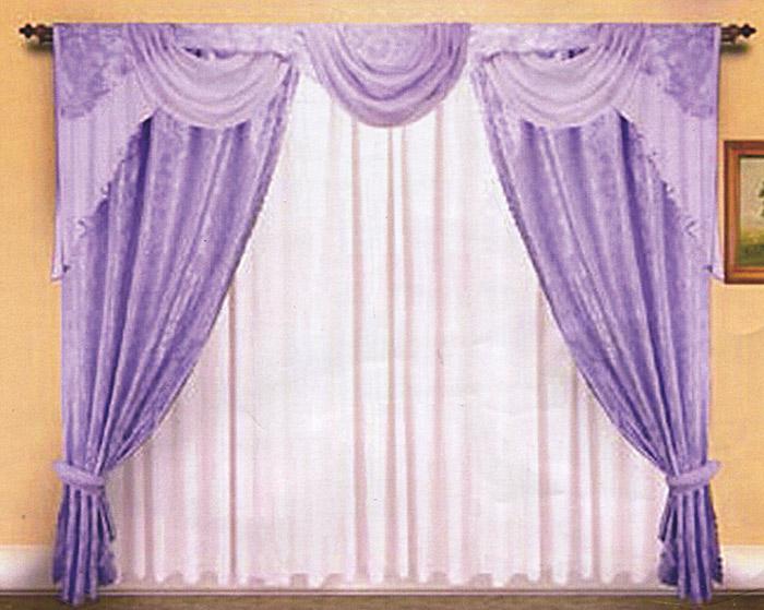 Комплект штор Zlata Korunka, на ленте, цвет: сиреневый, высота 250 см. Б007Б007Комплект штор Zlata Korunka, изготовленный из прочного полиэстера сиреневого цвета, станет великолепным украшением любого окна. В набор входят две плотные шторы, вуалевый белый тюль и ламбрекен. Также для более изящного расположения штор на окне прилагаются подхваты. При подгибе изделий использовалась атласная тесьма. Комплект имеет изысканный внешний вид и обладает яркостью и сочностью цвета. Все предметы комплекта на шторной ленте для собирания в сборки. Характеристики: Материал: 100% полиэстер. Цвет: сиреневый. Размер упаковки: 30 см х 7 см х 42 см. Производитель: Польша. Изготовитель: Россия. Артикул: Б007. В комплект входит: Штора - 2 шт. Размер (ШхВ): 150 см х 250 см. Тюль - 1 шт. Размер (ШхВ): 500 см х 250 см. Ламбрекен - 1 шт. Размер (ШхВ): 300 см х 40 см. Подхваты - 2 шт. УВАЖАЕМЫЕ КЛИЕНТЫ! Обращаем ваше внимание на цвет изделия. Цветовой вариант комплекта, данного в...