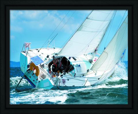 Постер в раме Яхта, 40 x 50 см