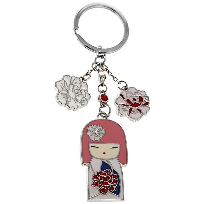 Подвеска-брелок Kimmidoll Тамаки (Драгоценность). KF0523KF0523Подвеска-брелок Kimmidoll Тамаки (Драгоценность) выполнена из металла и декорирована элементами в виде цветов и японской куколки в розовом кимоно, а также инкрустирована стразами. Привет, меня зовут Тамаки! Мой дух полон любви и заботы. Если Вы цените все то, что делает Вас уникальным человеком - Вы заставляете сиять мой дух! Позвольте всем, кто Вас любит, ценить Ваши особенные черты и качества, которые питают Ваш, всеми любимый, дух!