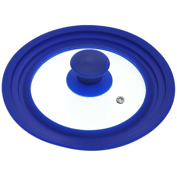Крышка универсальная Borner, диаметр 16 см, 18 см, 20 см, цвет: синий. 5000101