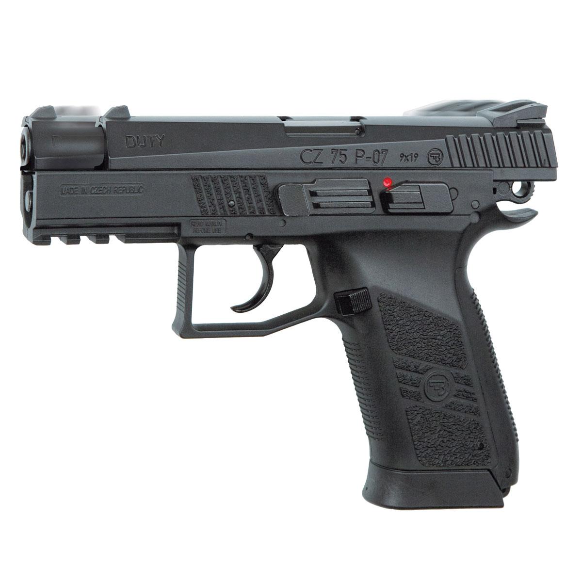 "ASG ASG ""CZ 75 P-07 Duty"" пистолет пневматический, Blowback, CO2, 4,5 мм, цвет: Black (16728)"