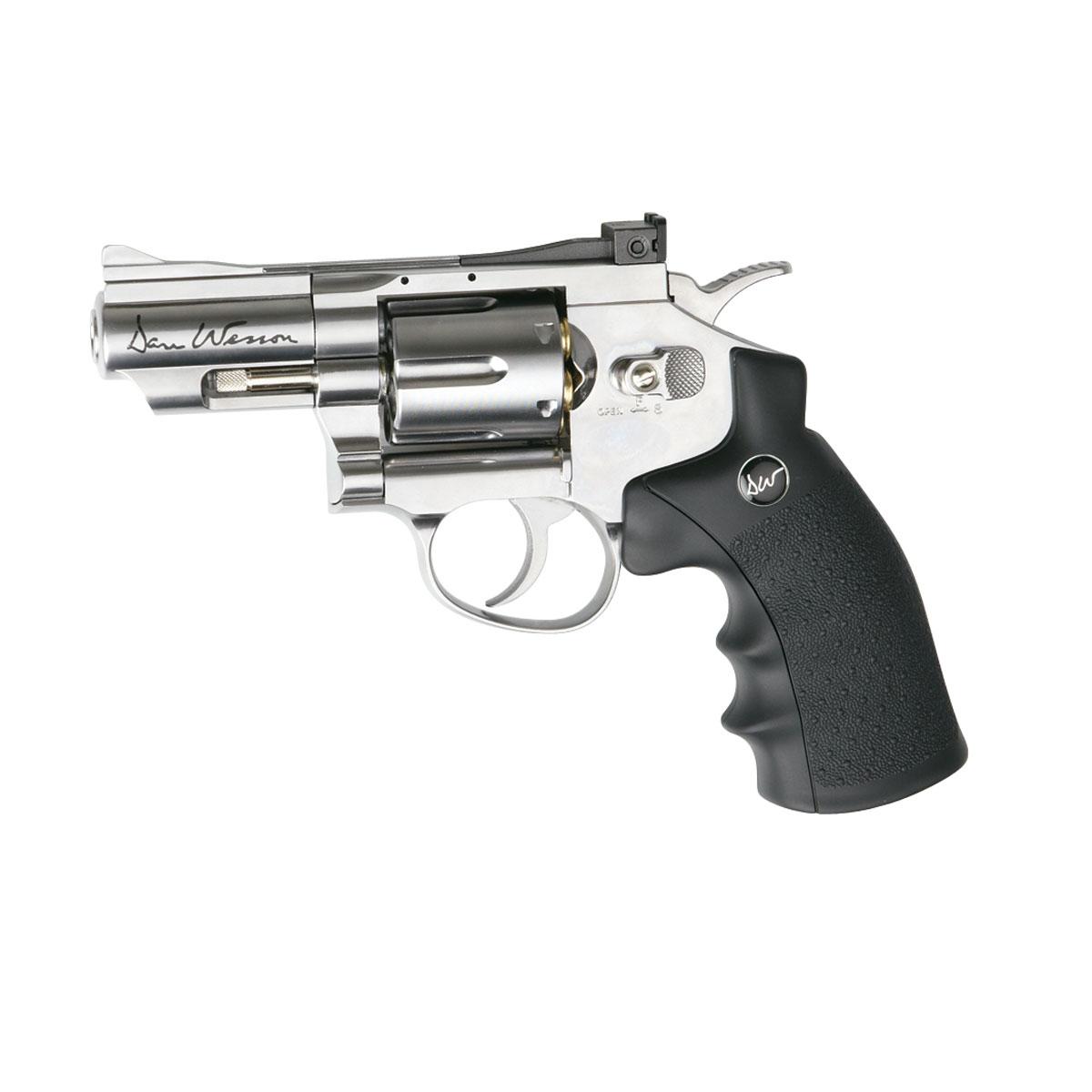 "ASG ASG ""Dan Wesson 2.5inch"" револьвер пневматический CO2, 4,5 мм, цвет: Silver (17177)"