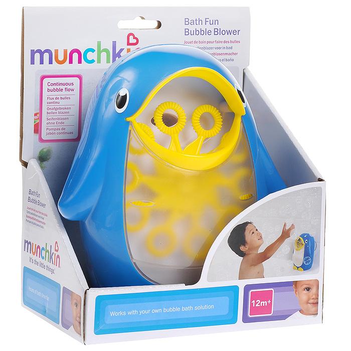 Игрушка для ванной Munchkin Мыльные пузыри11352Игрушка для ванной Munchkin Мыльные пузыри непременно понравится вашему малышу и превратит купание в веселую игру. Игрушка выполнена из пластика в виде симпатичного пингвинчика. Резервуар игрушки наполняется пенным средством. Сверху на пингвине расположена кнопка включения/выключения. При включении десять колечек на палочках вращаются и беспрерывно воспроизводят мыльные пузыри. Игрушка легко крепится к стене ванной комнаты при помощи присоски. Порадуйте своего ребенка таким замечательным подарком! Характеристики: Материал: пластик, резина. Размер пингвина: 16 см х 10,5 см х 18 см. Размер упаковки: 16,5 см х 11,5 см х 20 см. Изготовитель: Китай. Рекомендуется докупить 2 батареи напряжением 1,5V типа АА (не входят в комплект).