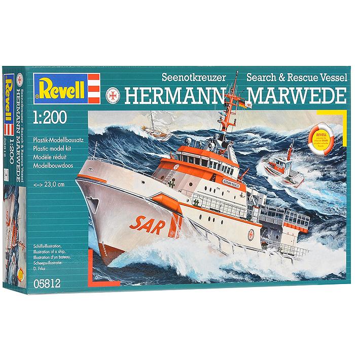 Сборная модель Морской спасательный катер Hermann Marwede05812RСборная модель Морской спасательный катер Hermann Marwede позволит вам и вашему ребенку собрать уменьшенную копию самого большого в истории Германии спасательного судна. Комплект включает в себя 78 пластиковых элементов и схематичную инструкцию по сборке. Процесс сборки развивает интеллектуальные способности, воображение и конструктивное мышление, а также прививает практические навыки работы со схемами и чертежами.
