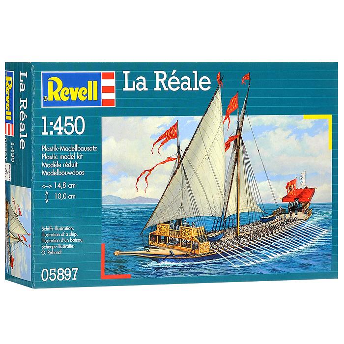 Сборная модель Галера Ла Реаль05897RСборная модель Галера Ла Реаль позволит вам и вашему ребенку собрать уменьшенную копию французского флагманского корабля, впервые спущенного наводу в 1694 году. Галера имела 32 пары весел. Комплект включает в себя 22 пластиковых элемента и схематичную инструкцию по сборке. Процесс сборки развивает интеллектуальные способности, воображение и конструктивное мышление, а также прививает практические навыки работы со схемами и чертежами.