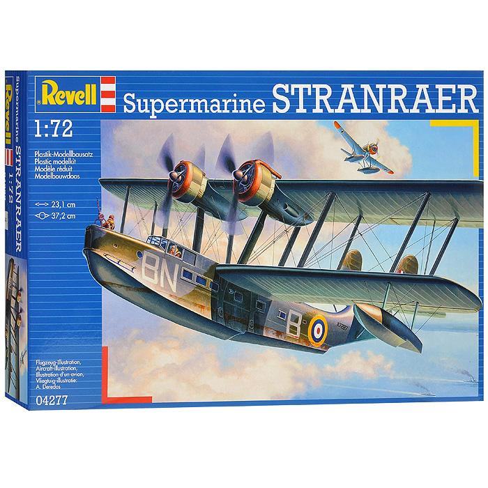 Сборная модель Cамолет Supermarine Stranraer04277RСборная модель Cамолет Supermarine Stranraer позволит вам и вашему ребенку собрать уменьшенную копию одноименного английского самолета. Cамолет Supermarine Stranraer - это летающая лодка, которая была сделана по последней схеме «биплан». Его двигатели располагаются на верхнем крыле. Комплект включает в себя 119 пластиковых элементов для сборки модели и схематичную инструкцию по сборке. Процесс сборки развивает интеллектуальные способности, воображение и конструктивное мышление, а также прививает практические навыки работы со схемами и чертежами.