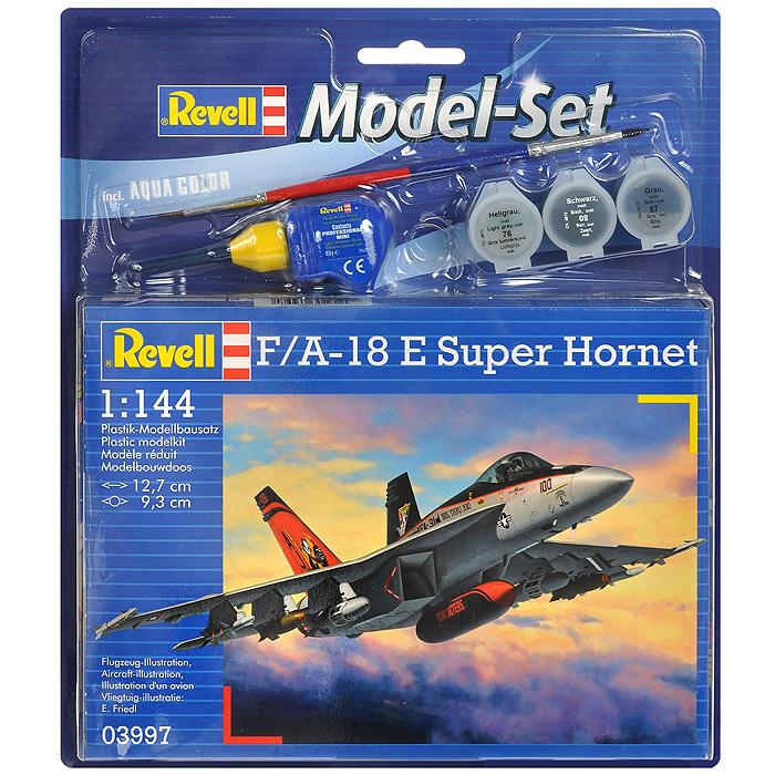 Набор для сборки и раскрашивания модели Истребитель-бомбардировщик F/A-18 E Super Hornet63997С помощью набора Истребитель-бомбардировщик F/A-18 E Super Hornet вы и ваш ребенок сможете собрать уменьшенную копию одноименного истребителя-бомбардировщика и раскрасить ее. Набор включает в себя 63 пластиковых элемента для сборки модели, краски трех цветов, клей, двустороннюю кисточку и схематичную инструкцию по сборке. Благодаря набору ваш ребенок научится пространственно мыслить, различать цвета, творчески решать поставленные задачи, разовьет мелкую моторику рук, внимание, терпение, кругозор и мышление.