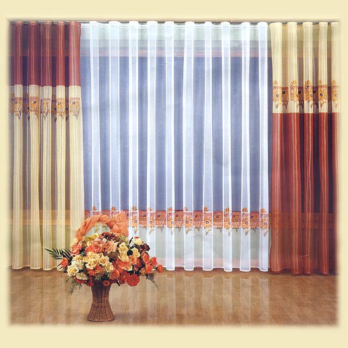 Комплект штор Ztocienie, на ленте, цвет: терракотовый, желтый, белый, высота 250 см804689Комплект штор Ztocienie великолепно украсит любое окно. Комплект состоит из тюля и четырех штор, выполненных из легкого полиэстера. Тонкое плетение, изящный дизайн и контрастная цветовая гамма привлекут к себе внимание и органично впишутся в интерьер помещения. Все предметы комплекта оснащены шторной лентой для красивой сборки. Характеристики: Материал: 100% полиэстер. Цвет: терракотовый, желтый, белый. Размер упаковки: 33 см х 42 см х 8 см. Артикул: 804689. В комплект входит: Тюль - 1 шт. Размер (ШхВ): 600 см х 250 см. Штора - 4 шт. Размер (ШхВ): 150 см х 250 см. Фирма Wisan на польском рынке существует уже более пятидесяти лет и является одной из лучших польских фабрик по производству штор и тканей. Ассортимент фирмы представлен готовыми комплектами штор для гостиной, детской, кухни, а также текстилем для кухни (скатерти, салфетки, дорожки, кухонные занавески). Модельный ряд отличает оригинальный дизайн, высокое...