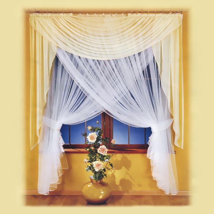 Комплект штор Milena, на ленте, цвет: белый, высота 250 см672905Комплект штор Milena великолепно украсит любое окно. Комплект состоит из двойного тюля, выполненного с эффектом нахлеста, и ламбрекена. Для более изящного размещения предусмотрены подхваты. Вуалевый тюль и ламбрекен выполнены из легкого полиэстера белого цвета. Изящный дизайн и нежная цветовая гамма привлекут к себе внимание и органично впишутся в интерьер помещения. Все предметы комплекта оснащены шторной лентой. Характеристики: Материал: 100% полиэстер. Цвет: белый. Размер упаковки: 34 см х 40 см х 8 см. Артикул: 672905. В комплект входит: Тюль - 1 шт. Размер (ШхВ): 250 см х 250 см. Ламбрекен - 1 шт. Размер (ШхВ): 250 см х 180 см. Подхват - 2 шт. Фирма Wisan на польском рынке существует уже более пятидесяти лет и является одной из лучших польских фабрик по производству штор и тканей. Ассортимент фирмы представлен готовыми комплектами штор для гостиной, детской, кухни, а также текстилем для кухни (скатерти,...