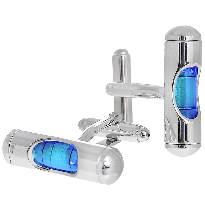 Запонки Цилиндр синий. ZAP-075ZAP-075Запонки Уровень изготовлены из серебристого металла с миниатюрными пузырьковыми уровнями с наполнением синего цвета. Такие запонки, непременно, станут объектом внимания. Мужские запонки великолепного дизайна будут отличным подарком для каждого. Запонки - символ мужской элегантности. Они являются неотъемлемой частью вечернего туалета. Выбирайте запонки в зависимости от вашего настроения, а также впечатления, которое вы хотите произвести на окружающих. Изделие упаковано в подарочную коробку. Характеристики: Материал: металл. Размер декоративной части запонки: 0,7 см x 2,8 см. Высота запонки: 2,5 см. Размер упаковки: 8 см x 4 см x 3 см. Артикул: ZAP-75.