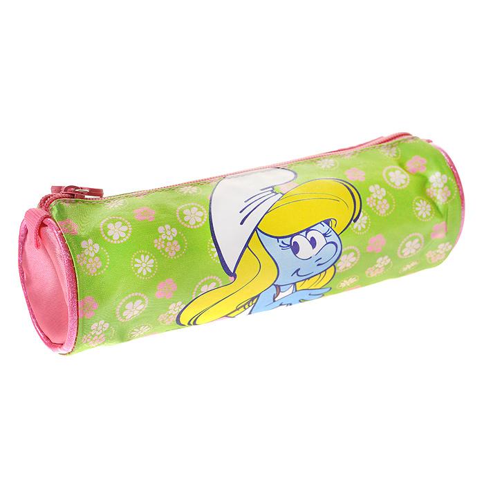Пенал-тубус Смурфики: Beautiful Girl, цвет: салатовый, розовый19811Пенал-тубус Смурфики: Beautiful Girl предназначен для хранения ручек, линеек, карандашей и прочих канцелярских принадлежностей. Он выполнен из плотного материала и оформлен изображением Смурфетты - героини популярного мультфильма Смурфики. Пенал состоит из одного вместительного отделения, закрывающегося на застежку-молнию. Бегунок на застежке дополнен удобным держателем в виде розового цветочка. Пенал Смурфики: Beautiful Girl станет для вашего ребенка лучшим помощником в получении знаний и скрасит долгие часы школьных занятий. Характеристики: Материал: текстиль, пластик, металл, резина. Размер пенала: 23 см х 7 см х 7 см.