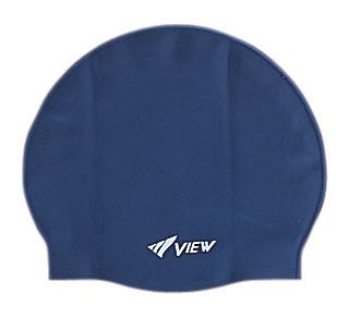 """View Шапочка для плавания """"View"""", силиконовая, цвет: темно-синий"""