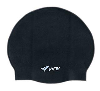 """Шапочка для плавания """"View"""", силиконовая, цвет: черный TS V-31 BK"""