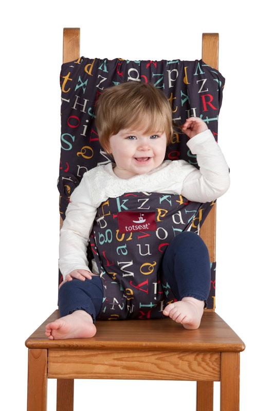 Дорожный детский стульчик Totseat, цвет: темно-синий с буквами1000100152Дорожный детский стульчик Totseat - незаменимая вещь в дороге или в гостях, если вы решили покормить малыша, а под рукой нет детского стульчика. Удобный, легкий и компактный - он весит всего 360 г, легко стирается, подходит для любого обычного стула со спинкой и легко поместится в женскую сумку. Его очень легко использовать: накиньте на стул, отрегулируйте длину и защелкните. Этот компактный стульчик для кормления, предназначенный для детей от 8 до 30 месяцев, подходит для любого обычного стула со спинкой. Totseat - это отличный подарок и полезный аксессуар в поездке. Вы можете взять его на пикник и посадить кроху отдыхать в шезлонге. А дополнительная упаковочная сумочка на молнии отлично подойдет для мокрого слюнявчика! В комплект входит мешочек для хранения. Больше информации вы найдете на сайте http://totseat.ru/ Инструкция по использованию: http://www.youtube.com/watch?v=KzBqR6yM8Uw&hd=1 или...